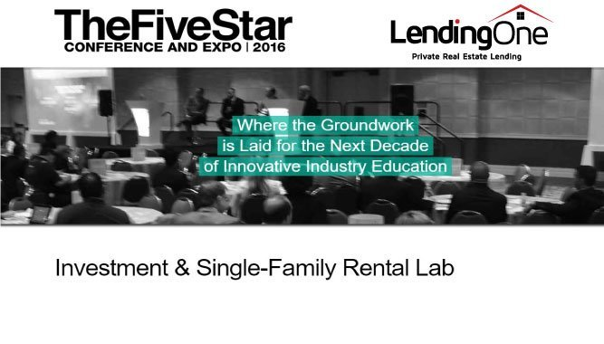 Five Star Conference Investment & Single Family Rental Lab Dallas Texas November 1-3, 2016
